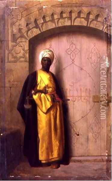 Guard Oil Painting - Jean-Leon Gerome