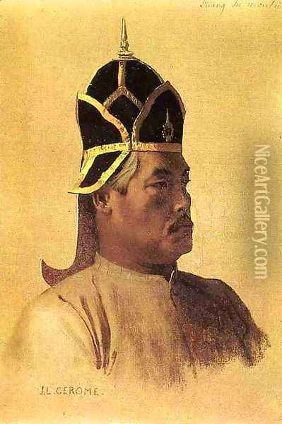 First Guardian of the Presents, Luang-in-Manki Oil Painting - Jean-Leon Gerome