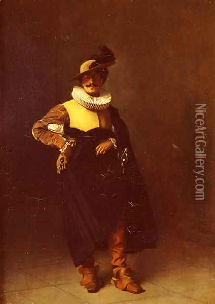 Personnage - Louis XIII (Notable Person - Louis XIII) Oil Painting - Jean-Leon Gerome