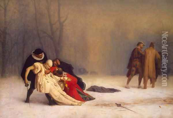 Duel after a Masked Ball Oil Painting - Jean-Leon Gerome