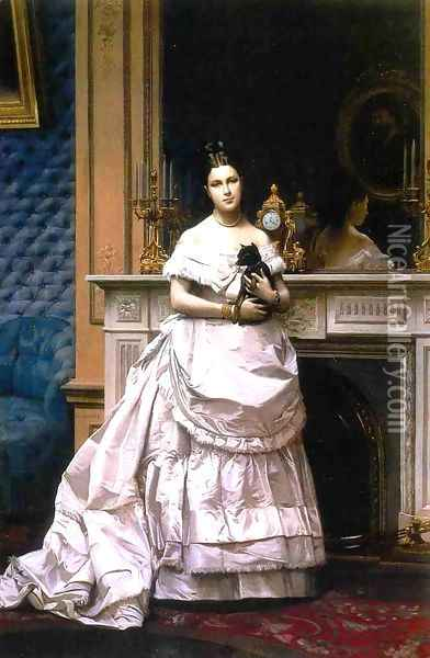 Portrait of a Woman aka Portrait of Marie Gerome 1867 1870 Oil Painting - Jean-Leon Gerome