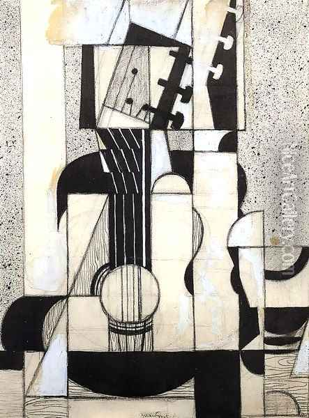 Still Life with Guitar Oil Painting - Juan Gris