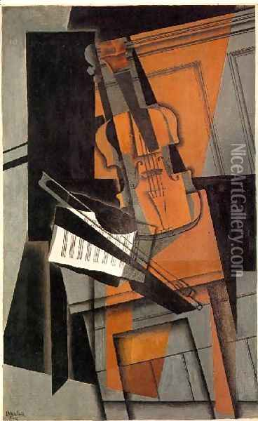 The Violin Oil Painting - Juan Gris