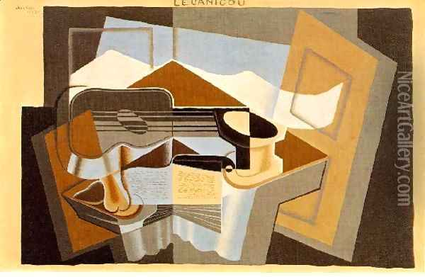 The Mountain Le Canigou Oil Painting - Juan Gris