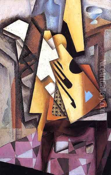 Guitar On A Chair Oil Painting - Juan Gris