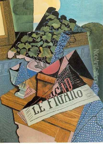 The Pot Of Geraniums Oil Painting - Juan Gris