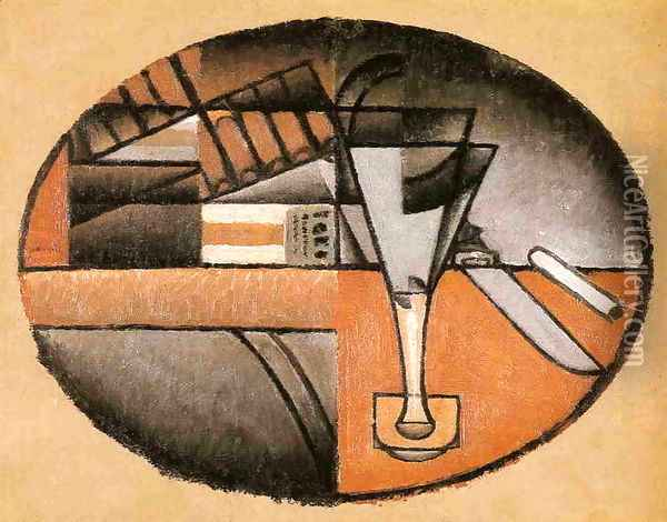 The Packet of Cigars Oil Painting - Juan Gris