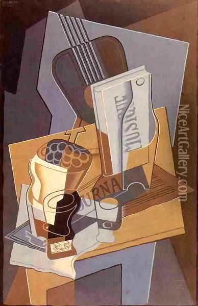 The Book of Music Oil Painting - Juan Gris