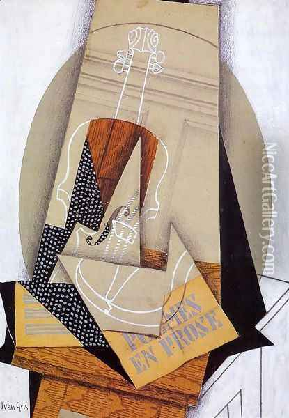 Composition with Violin Oil Painting - Juan Gris