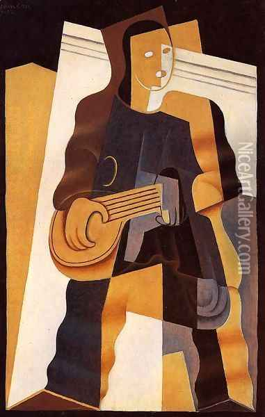 Pierrot II Oil Painting - Juan Gris