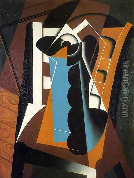 Still Life on a Chair Oil Painting - Juan Gris