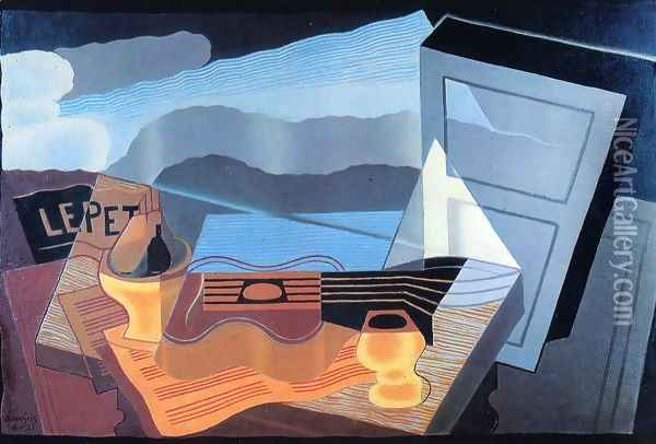 View across the Bay I Oil Painting - Juan Gris