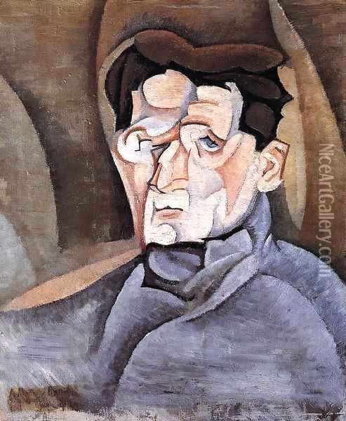 Portrait of Maurice Raynal Oil Painting - Juan Gris