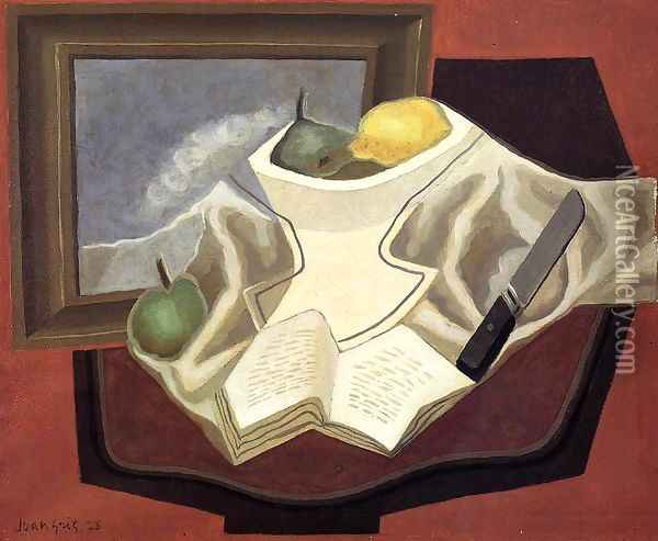 The Table in Front of the Picture Oil Painting - Juan Gris