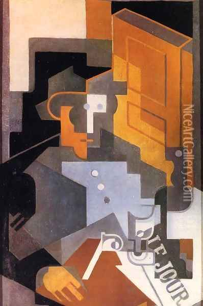 Man from Touraine Oil Painting - Juan Gris