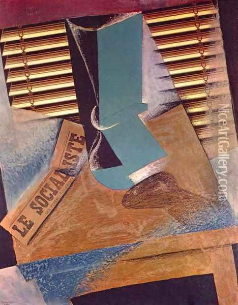 The Sunblind Oil Painting - Juan Gris