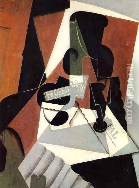 Strawberry Jam Oil Painting - Juan Gris