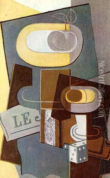 The Dice Oil Painting - Juan Gris