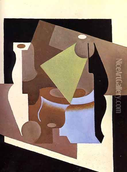 Still Life with Lamp Oil Painting - Juan Gris