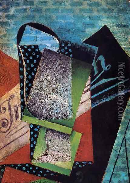 Still Life (dedicated to Andre Salmon) Oil Painting - Juan Gris