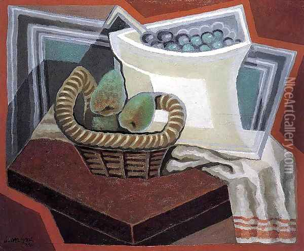 The Basket of Pears Oil Painting - Juan Gris