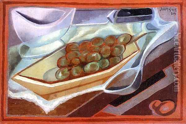 The Bunch of Grapes Oil Painting - Juan Gris