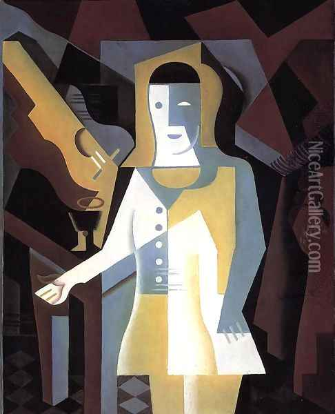 Pierrot Oil Painting - Juan Gris