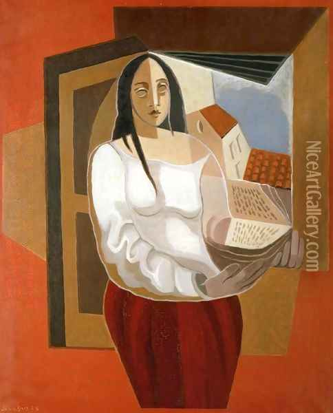 The Reader Oil Painting - Juan Gris