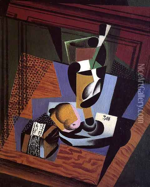 The Packet of Tobacco Oil Painting - Juan Gris