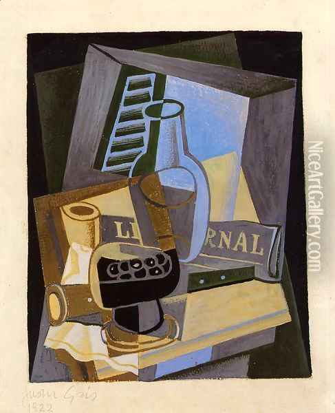 Still Life in Front of the Wiindow Oil Painting - Juan Gris