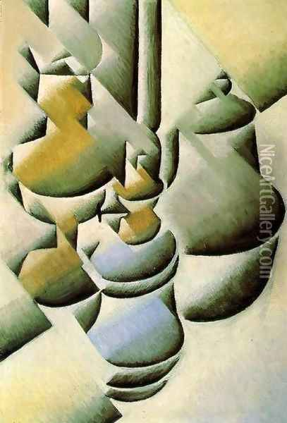 Still Life with Oil Lamps 1911-1912 Oil Painting - Juan Gris