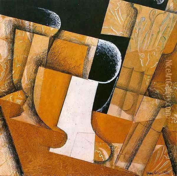 The Flower on the Table 1925-1926 Oil Painting - Juan Gris