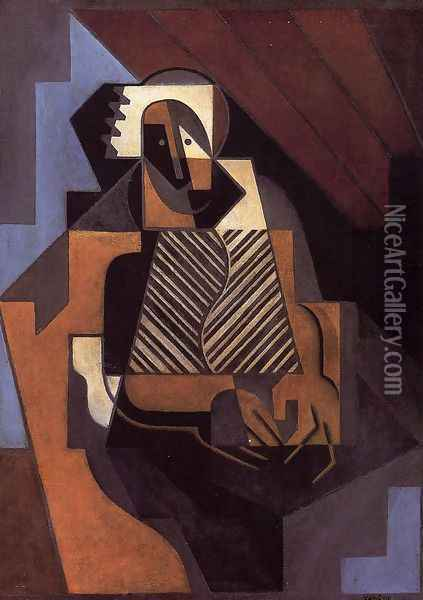 Title Unknown Oil Painting - Juan Gris