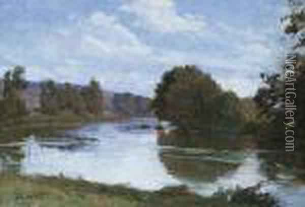 Bord De Riviere Oil Painting - Georges Emile, Geo Weiss