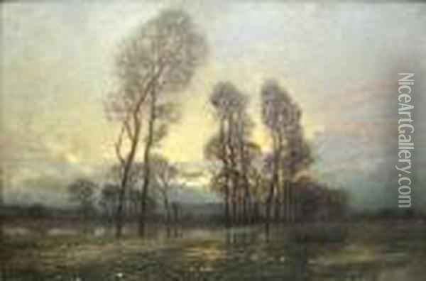 Dusk After The Rain Oil Painting - Jose Weiss