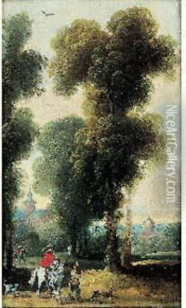 Les Chasseurs Oil Painting - Jan Wildens