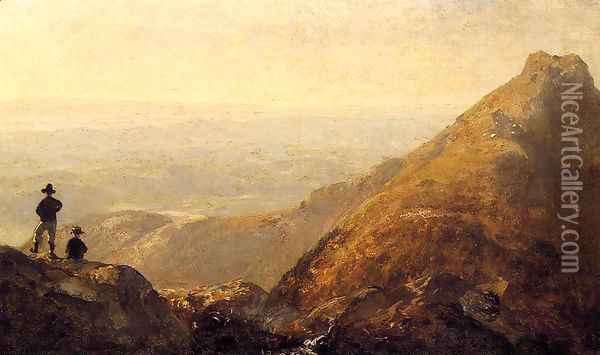 A Sketch Of Mansfield Mountain Oil Painting - Sanford Robinson Gifford
