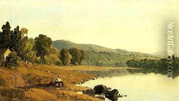 A Moment's Rest Oil Painting - Sanford Robinson Gifford