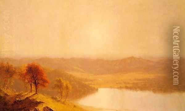 A View from the Berkshire Hills, near Pittsfield, Massachusetts Oil Painting - Sanford Robinson Gifford