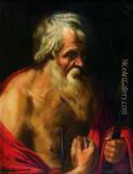 Saint Jerome Penitent Oil Painting - Artus Wollfort