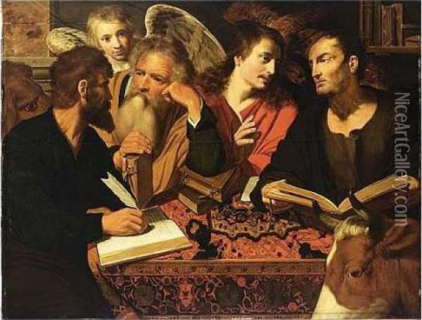 The Four Evangelists Oil Painting - Artus Wollfort