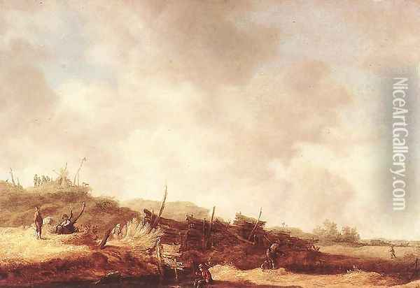 Landscape with Dunes 1630-35 Oil Painting - Jan van Goyen