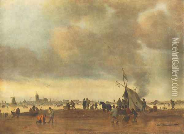 Winter Oil Painting - Jan van Goyen