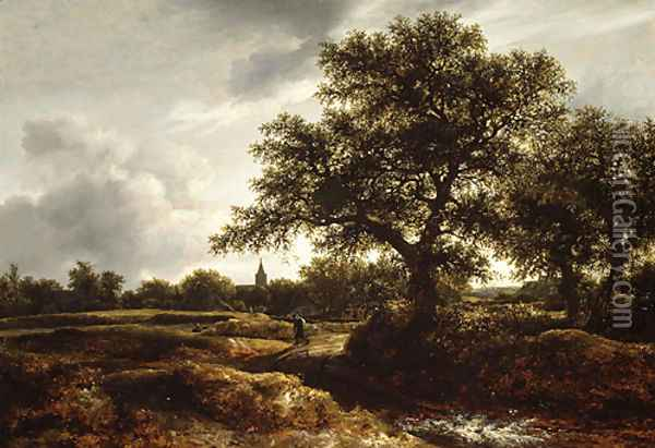 Landscape with a Village in the Distance 1646 Oil Painting - Jan van Goyen