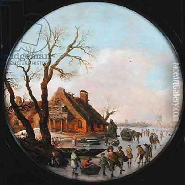 Winter Landscape Oil Painting - Jan van Goyen