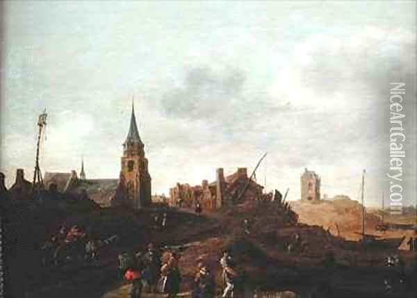 The Beach at Scheveningen Oil Painting - Jan van Goyen