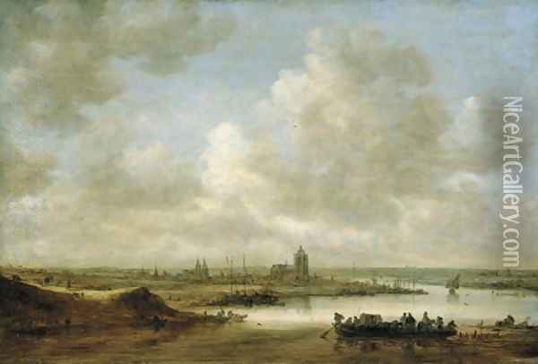 The Rhine at Arnhem 1645 Oil Painting - Jan van Goyen