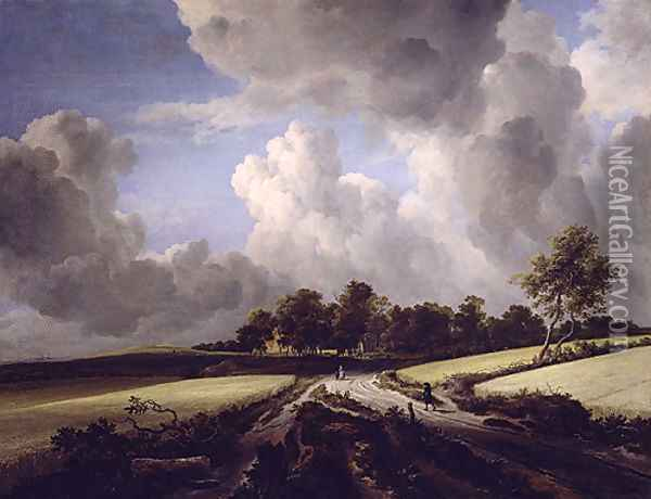 Wheat Fields ca 1670 Oil Painting - Jan van Goyen