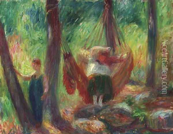 The Hammock Oil Painting - William Glackens