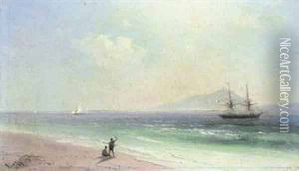 Departing For Foreign Shores Oil Painting - Ivan Konstantinovich Aivazovsky